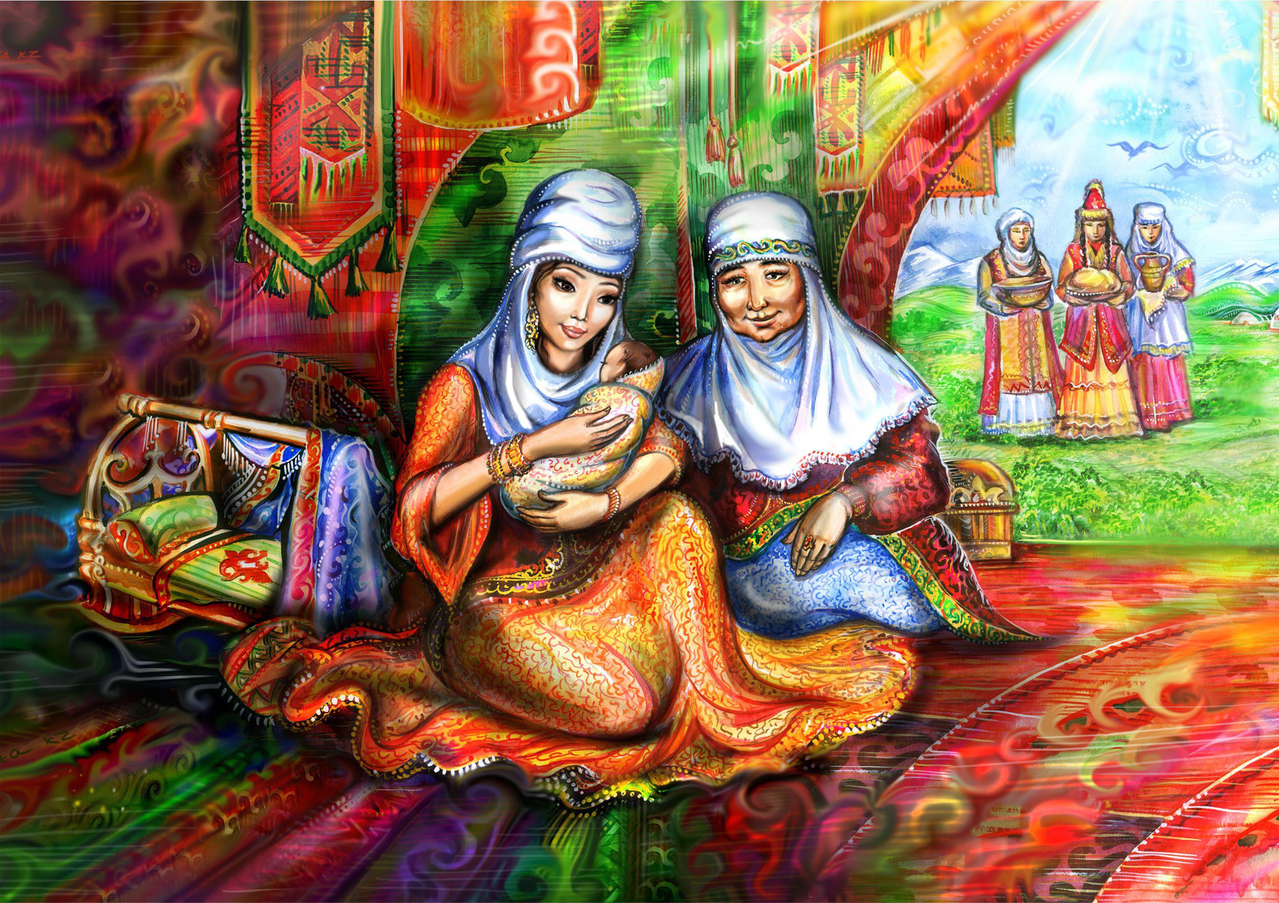 Картинки казахские обычаи и традиции