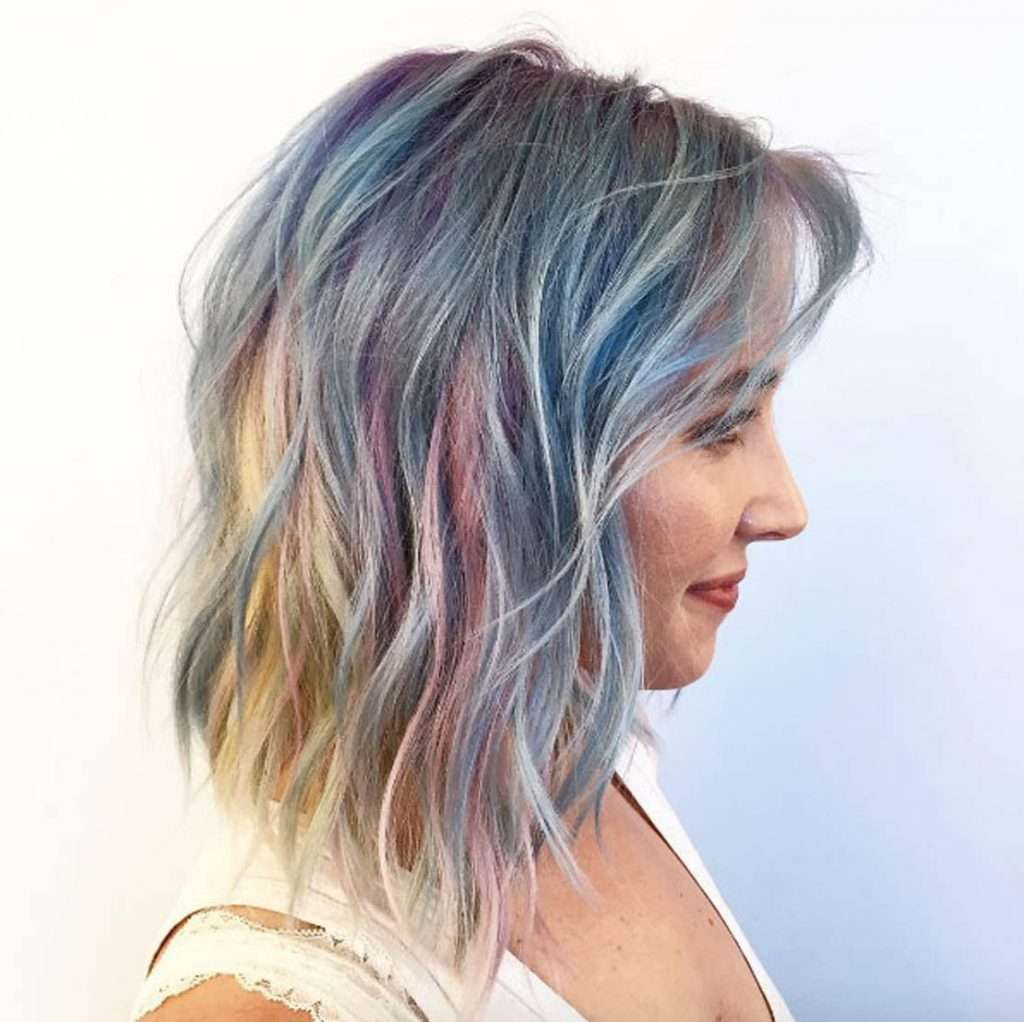 Окрашивание волос голливудский опал