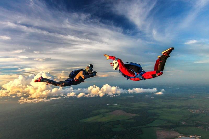 Прыжок с парашютом тандем